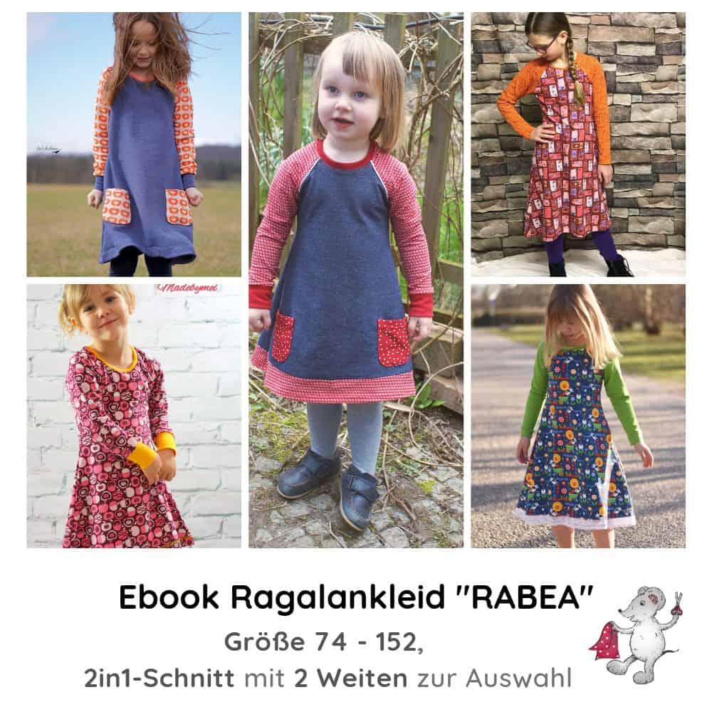 "e-book schnittmuster raglankleid ""rabea"" für kinder"
