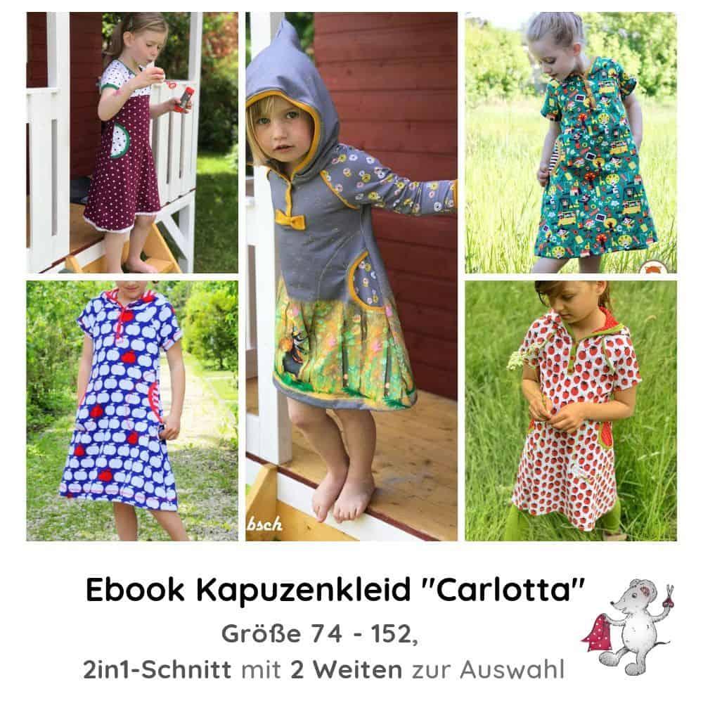 "e-book schnittmuster kapuzenkleid ""carlotta"" für kinder"
