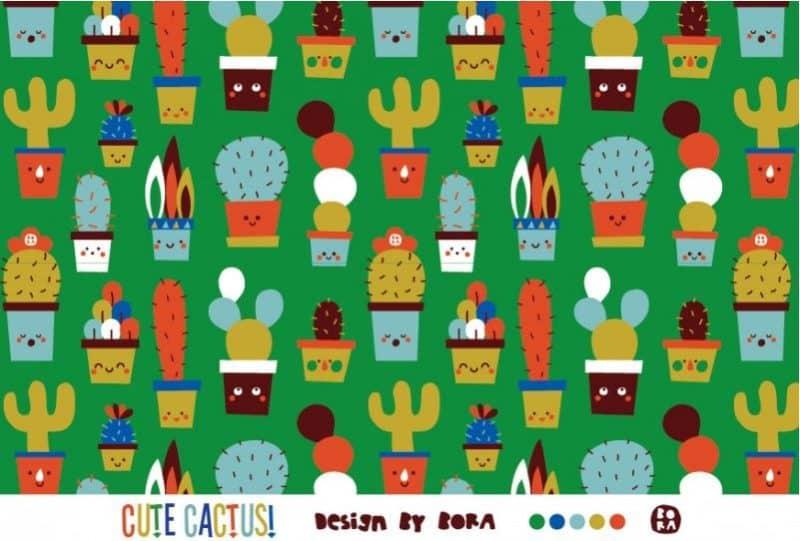 Bio Jersey Cute Cactus Lillestoff Die kleine Stoffmaus Bio Stoffe kaufen