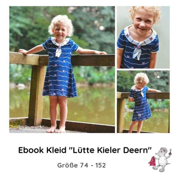 Schnittmuster Matrosenkleid Kleid Matrosenkragen Schleifenkragen Kinder Sommer Winter Jersey Die kleine Stoffmaus Ebok