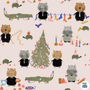 Bio Sweat Advent Lillemo Lillestoff Weihnachtsstoff online kaufen günstig Die kleine Stoffmaus
